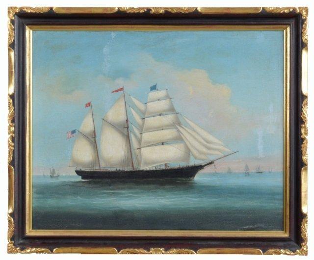 China Trade Ship Painting (19th Century)