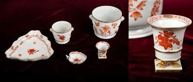 Group of Herend Porcelain Table Articles