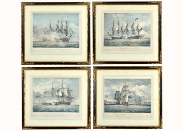 Set of Four Colored Lithographs   *