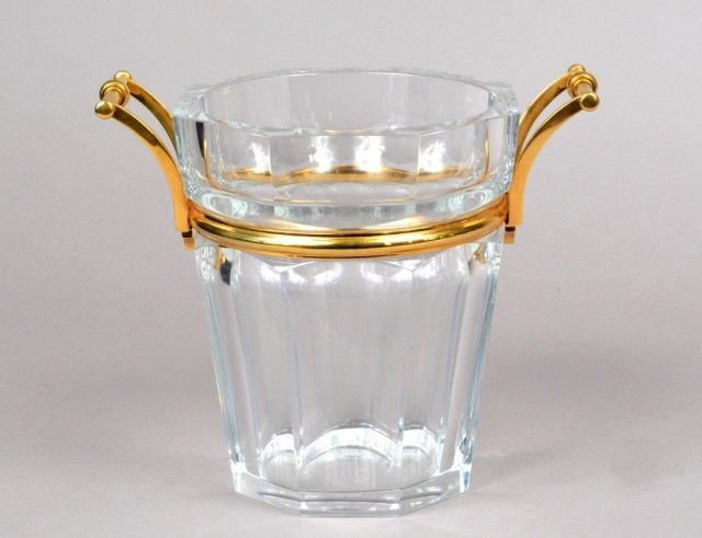 Fine Quality Cut Crystal & Bronze Mounted Bucket