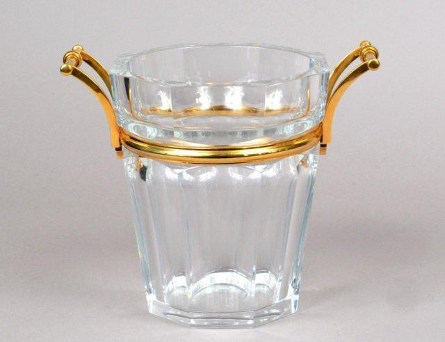 Fine Quality Cut Crystal & Bronze Mounted Bucket