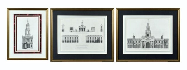Three English Architectural Prints