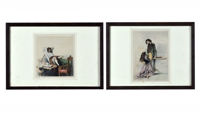 Two Russian Erotic Color Prints   *