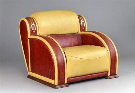 Formitalia Modern Leather Club Chair