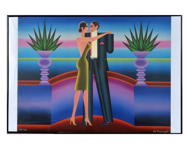 Mid Century Modern Color Lithograph