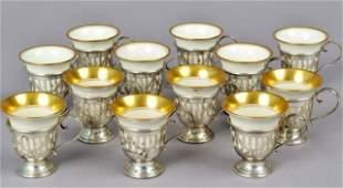 Group of American Sterling Demitasse Cup Holders
