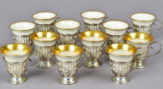 Group of American Sterling Demitasse Cup Holders