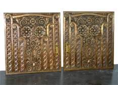 Pair of Art Deco Bronze Doors