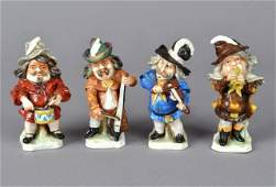 Four Capodimonte Porcelain Figures of Musicians