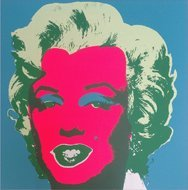 Andy Warhol. Marilyn Monroe serigraph. Sunday Morning