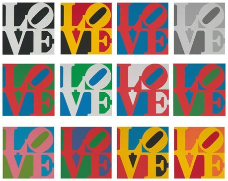 Robert Indiana - The Book of Love Suite (12 prints)