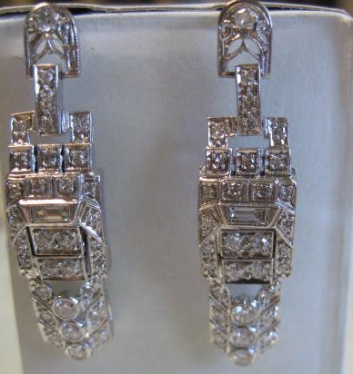Platinum & Diamond Earrings