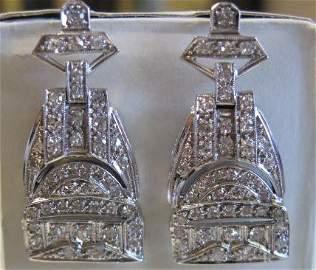 Platinum & Diamond Earrings