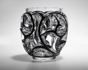A Lalique France ''Tourbillons'' art glass vase