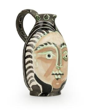 A Pablo Picasso for Madoura art pottery pitcher