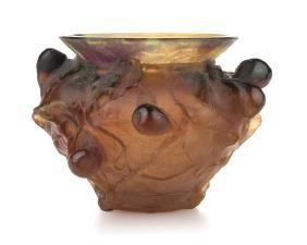 A Daum pate de verre art glass bowl