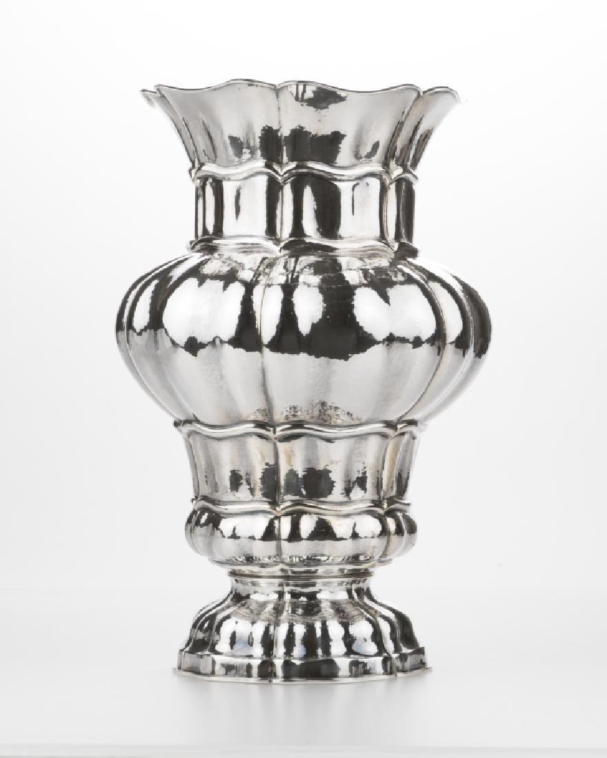 A Buccellati sterling silver vase