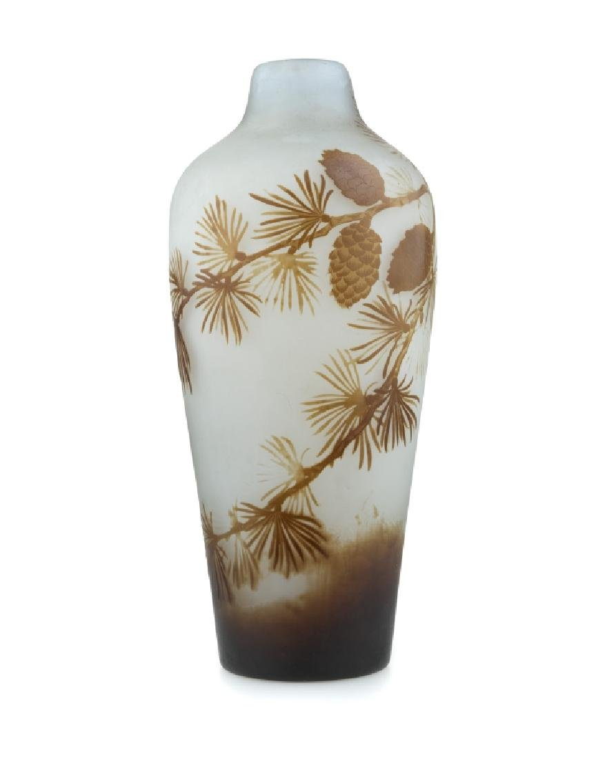 A Galle cameo cut-back art glass vase