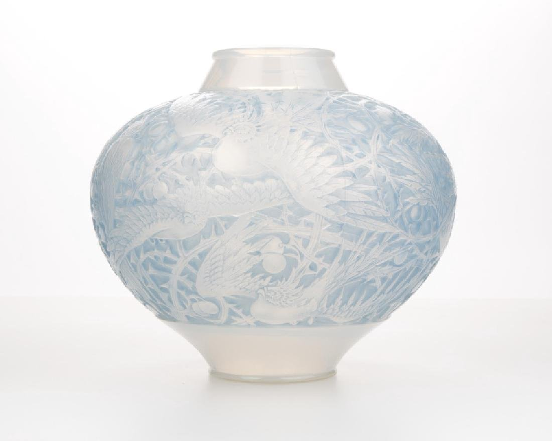 A Rene Lalique ''Aras'' art glass vase
