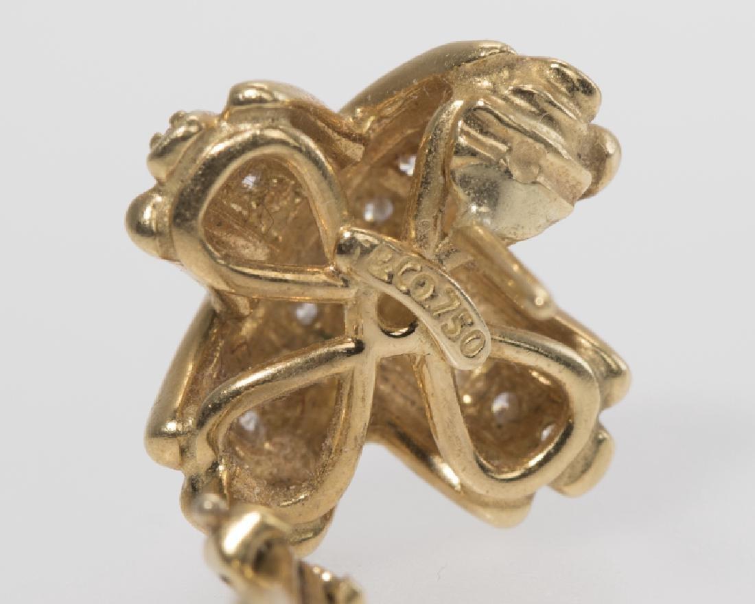 "A pair of diamond ""X"" earrings, Tiffany & Co. - 2"