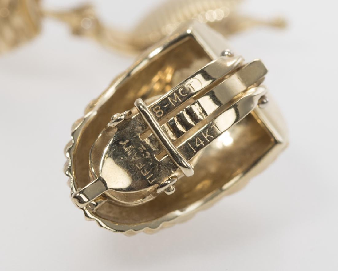 Pair of textured gold shrimp ear clips, Tiffany & Co. - 3