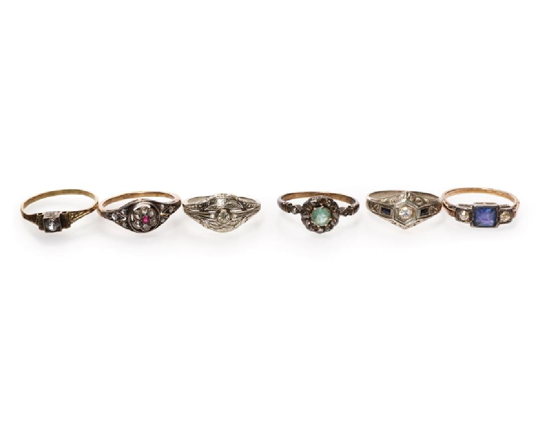 Six Antique rings