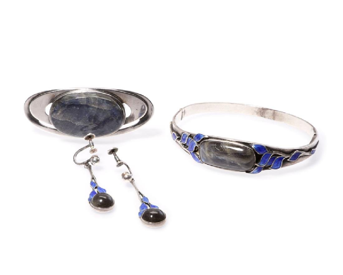 Group of silver and labradorite jewelry, Floyd Nash