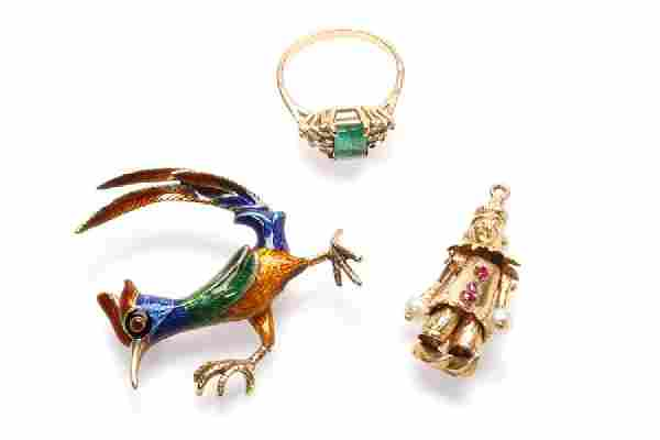 A group of gemstone jewelry items