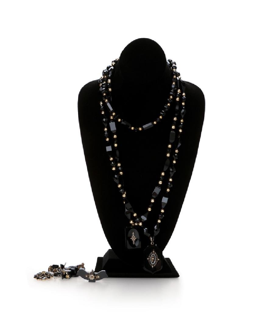 """A group of Victorian """"Black Jewelry"""""""