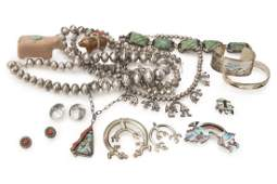 A group of Native American & Mexican jewelry