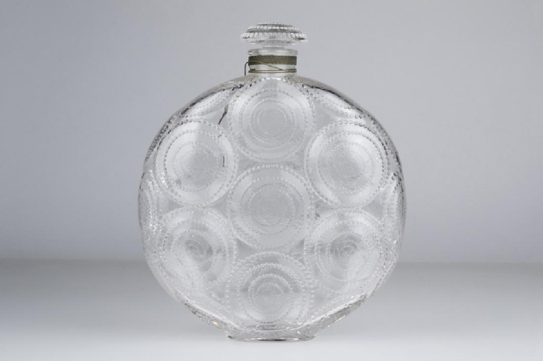 "A Rene Lalique ""Relief"" art glass perfume bottle"