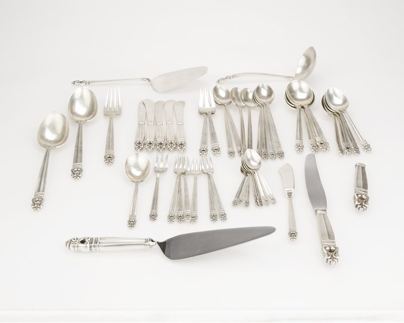 """A partial sterling silver """"Royal Danish"""" flatware"""