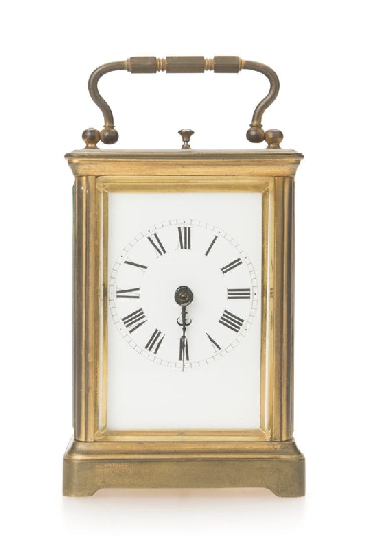 A French brass carriage clock