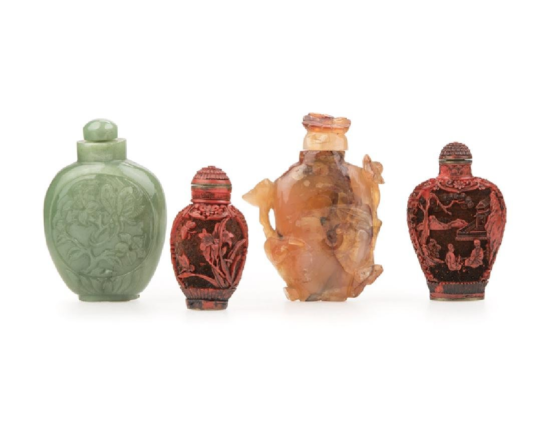 A group of four Chinese snuff bottles