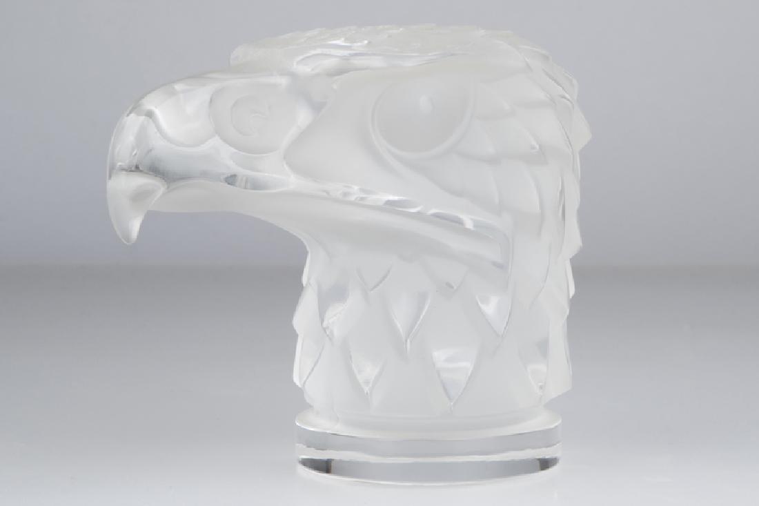 "A Lalique art glass ""Tete d'Aigle"" car mascot"