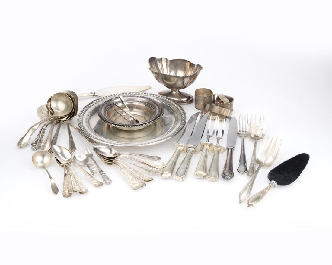 43 silver objects