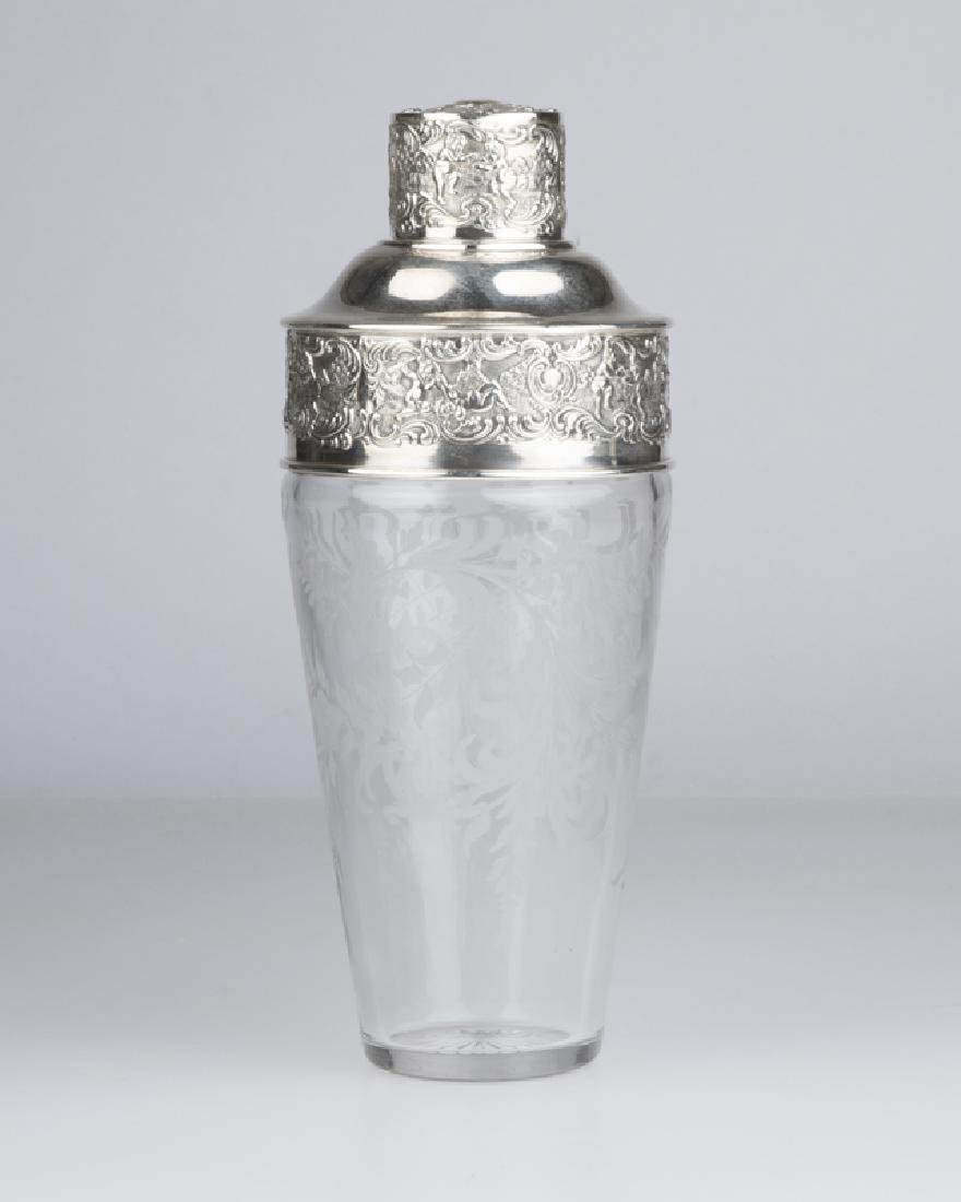 A cut-crystal and sterling silver-mounted cocktail