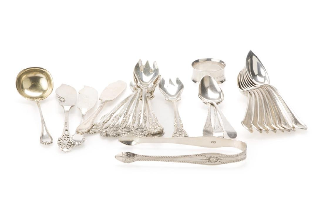 A group of American and English sterling silver