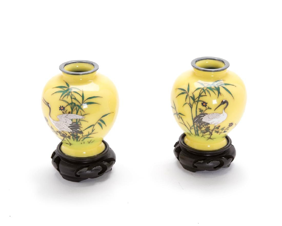 Pair of small japanese cloisonne vases a pair of small japanese cloisonne vases reviewsmspy