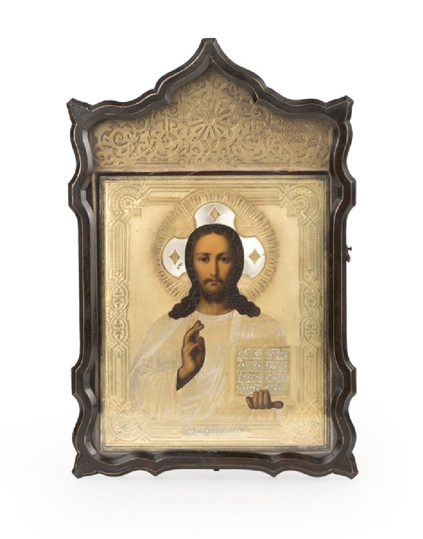 A Russian icon, Christ Pantocrator