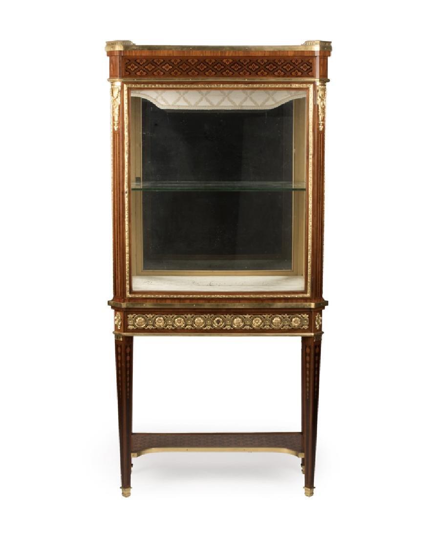 A Louis XVI-style gilt bronze-mounted vitrine, Sormani