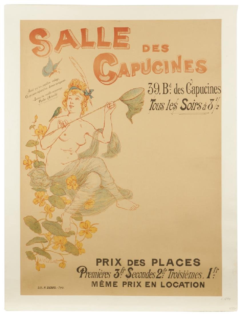 Vintage Poster, Adolphe Willette (1857 - 1926 French) - 4