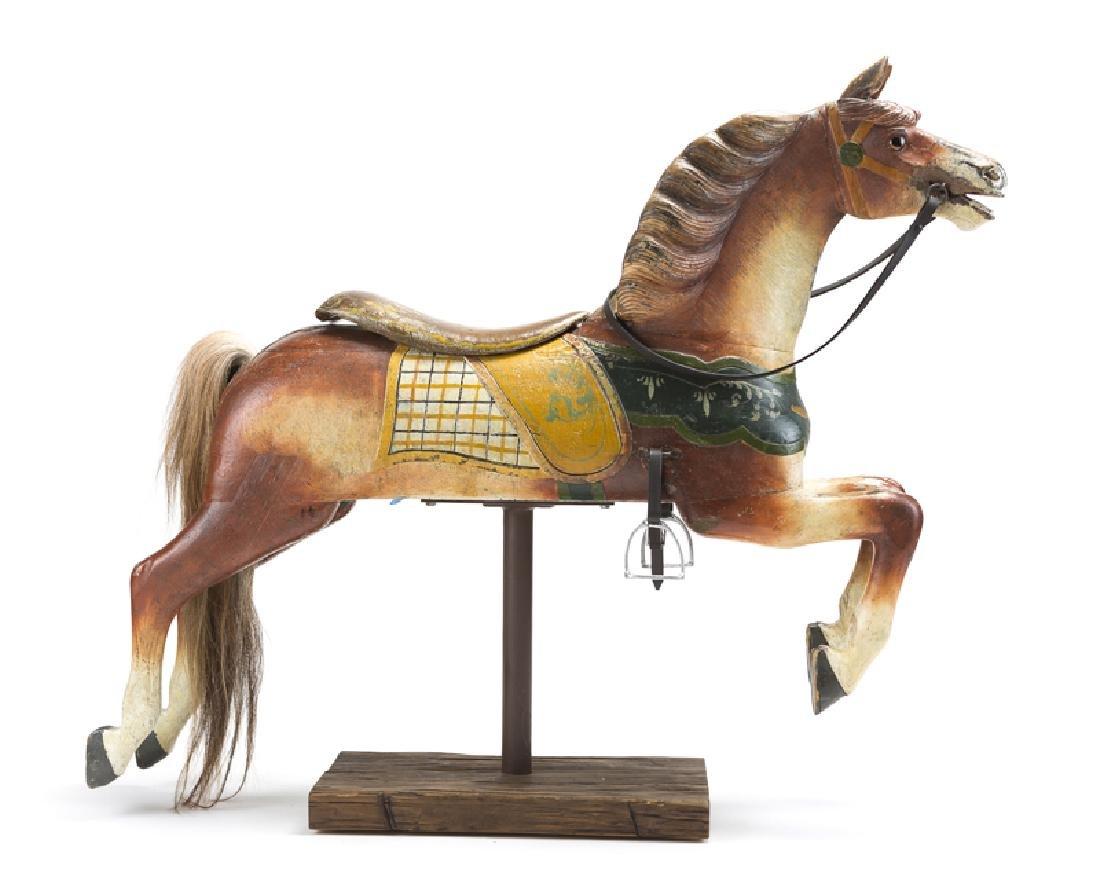 An Armitage-Herschell carousel track horse