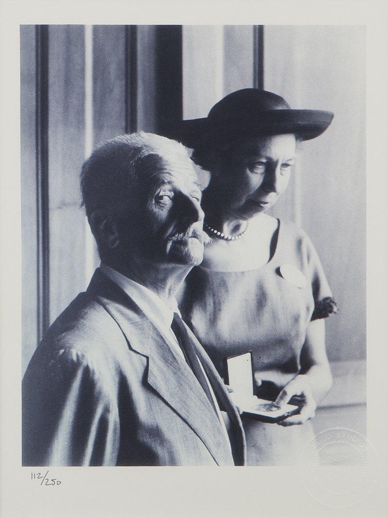 Photograph of William Faulkner and Eudora Welty, Budd