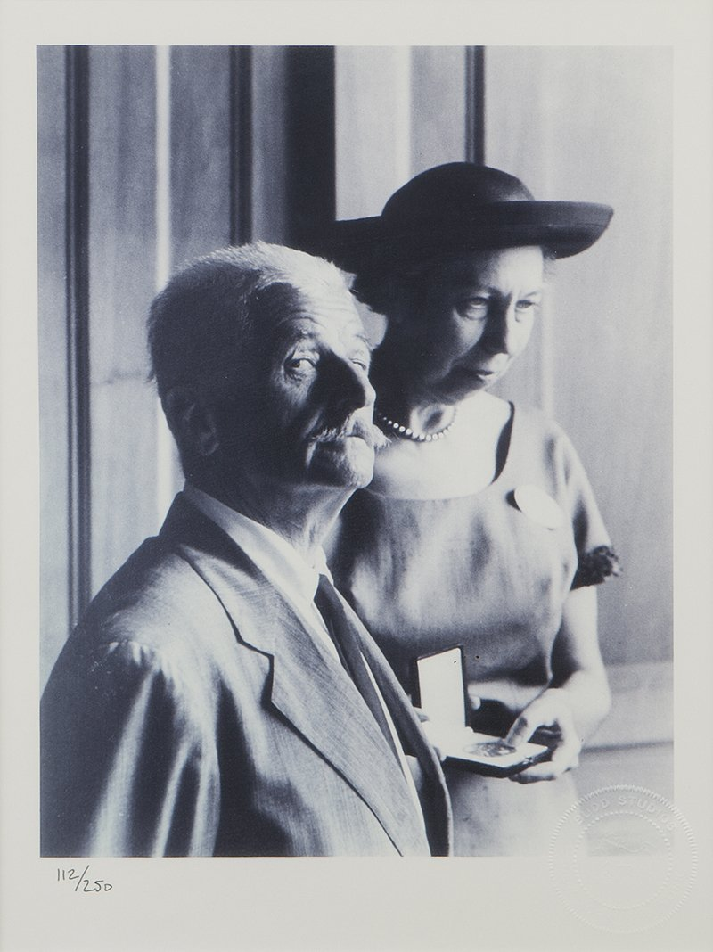 Photograph of William Faulkner and Eudora Welty, Budd