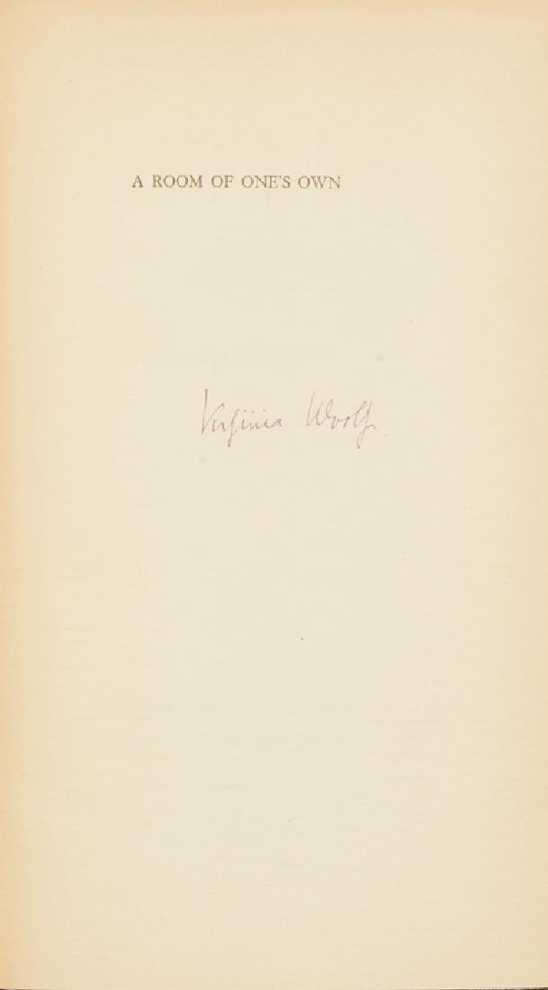 ''A Room of One's Own'' by Virginia Woolf, autographed - 2