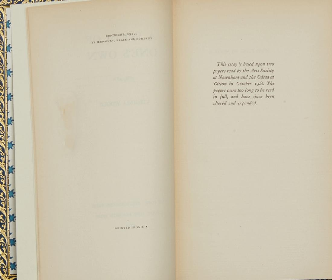 ''A Room of One's Own'' by Virginia Woolf, autographed - 4