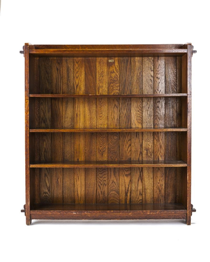 An L. & J.G. Stickley open-front bookcase, #646