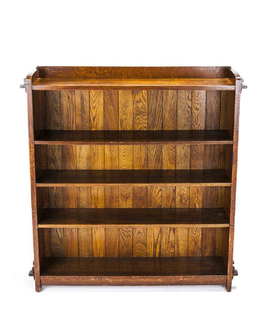 An L. & J.G. Stickley open-front bookcase, #646 - 2