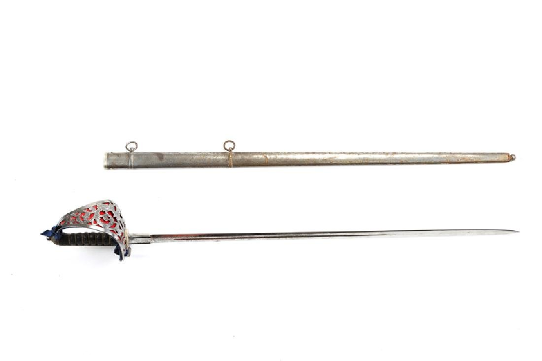 A British Highland Infantry officer's sword and